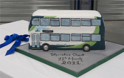 A picture of the commemorative cake