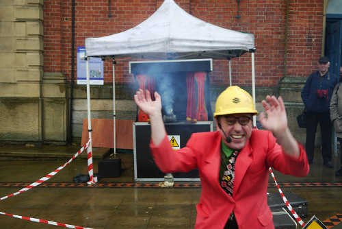 A picture of 'Dangerous Dave', one of the side shows at this year's Stalybridge Splash