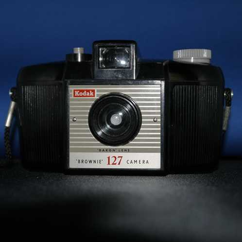 A picture of my Kodak Brownie 127