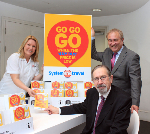 Suzanne Morrey, Andrew Fender and Richard Soper, seen in the TfGM office on Portland Street. (© 2013 Tangerine PR Ltd)