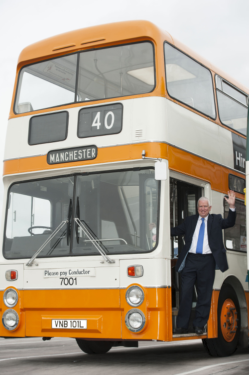 Christopher Bowles and Leyland Atlantean.