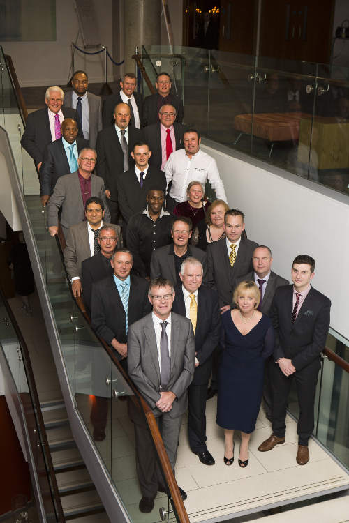 Seen at The Lowry Hotel, the nineteen longest serving members of staff from Hyde Road depot.