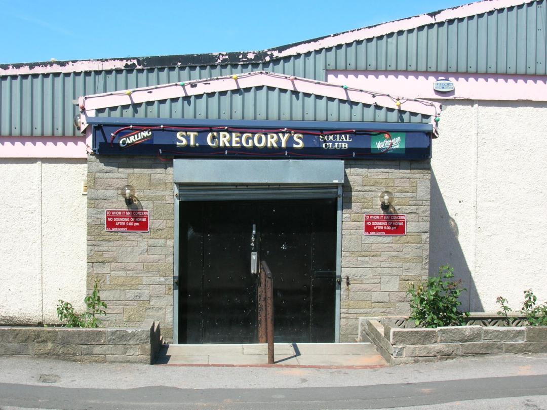 St. Gregory's Social Club entrance, Farnworth