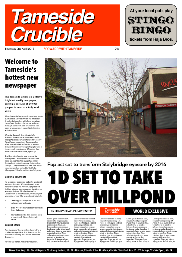 Tameside's Hottest Weekly: a look at the first edition. (© 2015 AFD Publications)