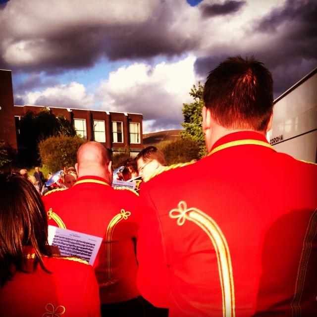 Fodens band at Stalybridge Labour Club