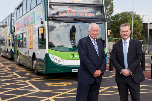 Christopher Bowles, Martin Griffiths and an Enviro400H.