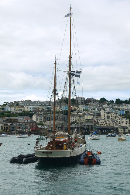 Grace boat Falmouth Harbour