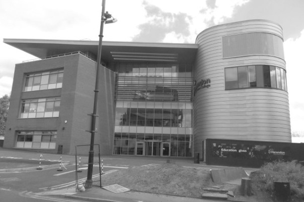 Imposing: the new Clarendon Sixth Form College in Ashton, now on its first full term.