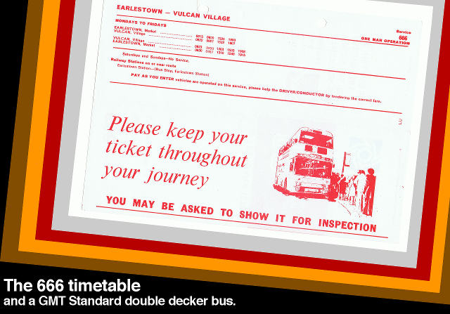 LUT route 666: inside the timetable.