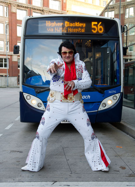 Elvis has just left the bus station.