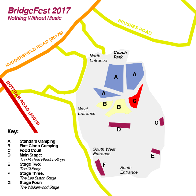 Bridge Fest 2017 Festival Map