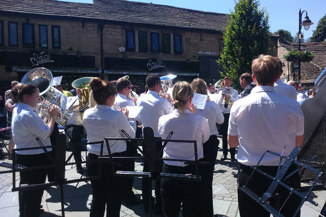 Milnrow Band, St. George's Square, Hebden Bridge.