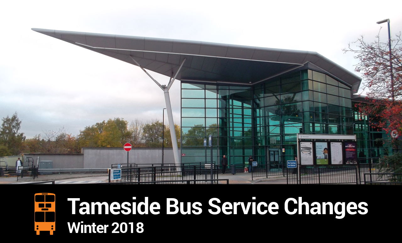 Tameside Bus Service Changes Bumper (Winter 2018)