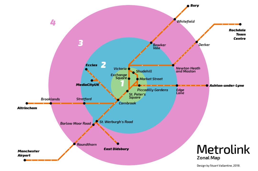 EM60's Metrolink Zonal Map