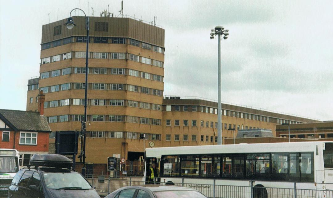 The TAC Building and Ashton Bus Station, as seen in 2011.