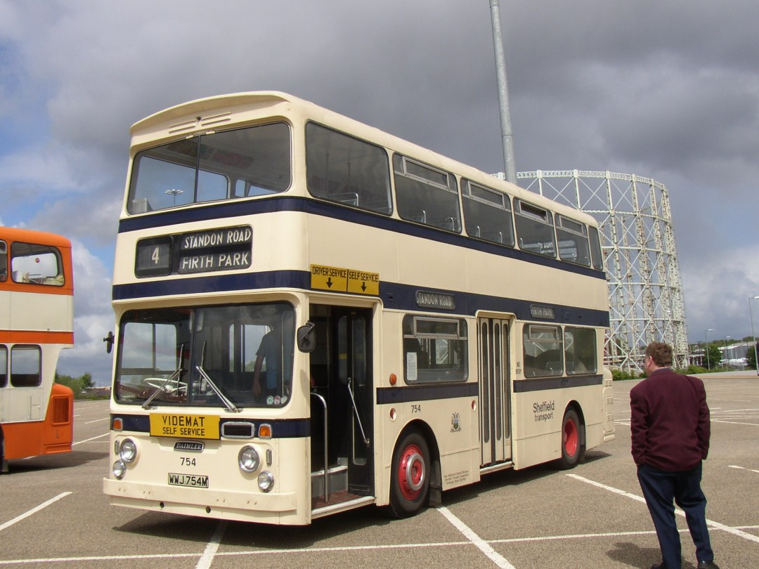 A Sheffield Transport bus in restored condition.