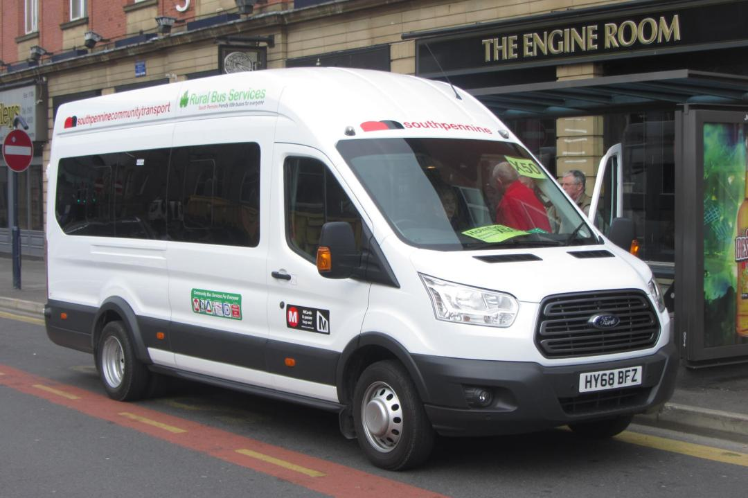 South Pennine Community Transport bus