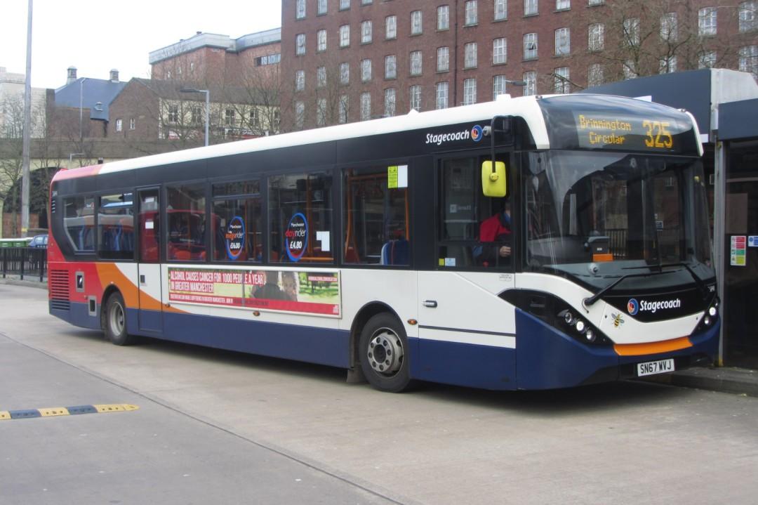 Stagecoach Manchester Enviro200, SN67 WVJ, Stockport bus station