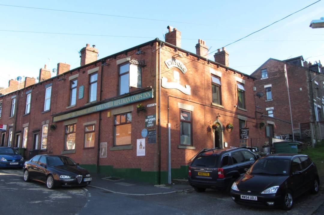 The old Old Thirteenth Cheshire Astley Volunteer Rifleman Corps Inn, Astley Street, Stalybridge (2013).