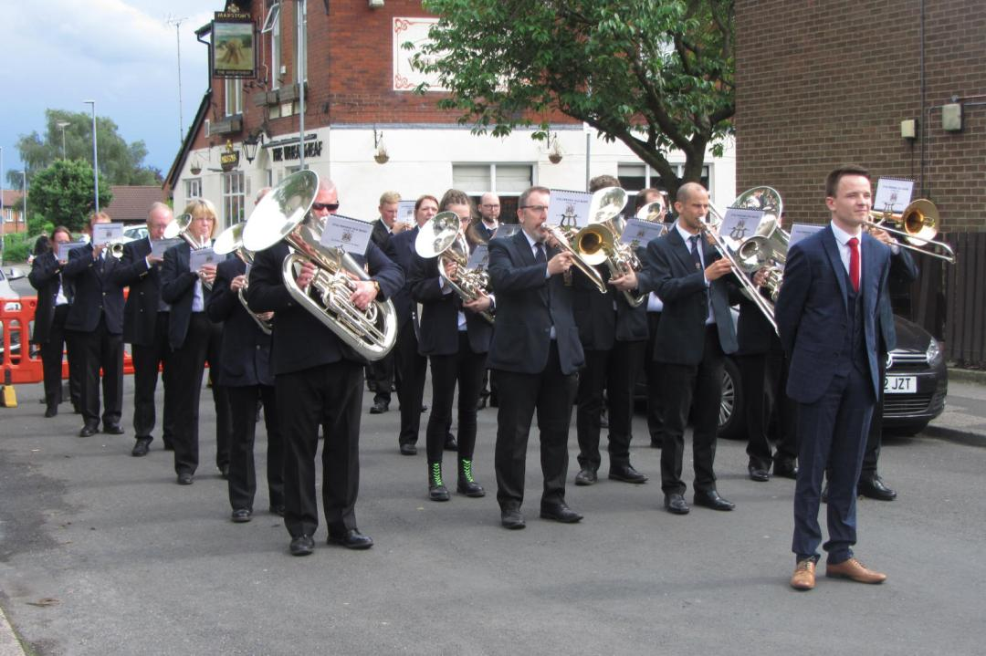 Stalybridge Old Band getting ready for their deportment march.