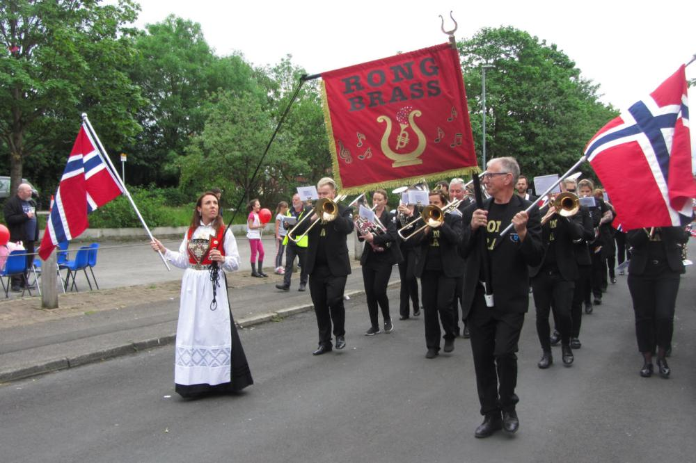 Rong Brass on their deportment march.