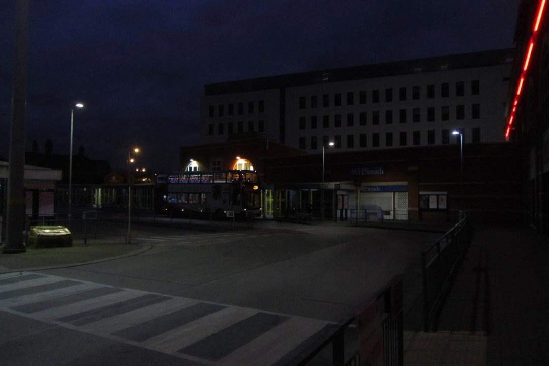 Ashton Bus Station By Night