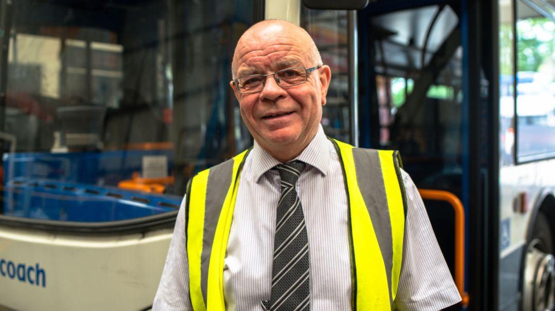 Peter Riley at Ashton depot