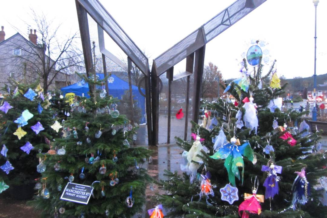 Armentieres Square Christmas Trees
