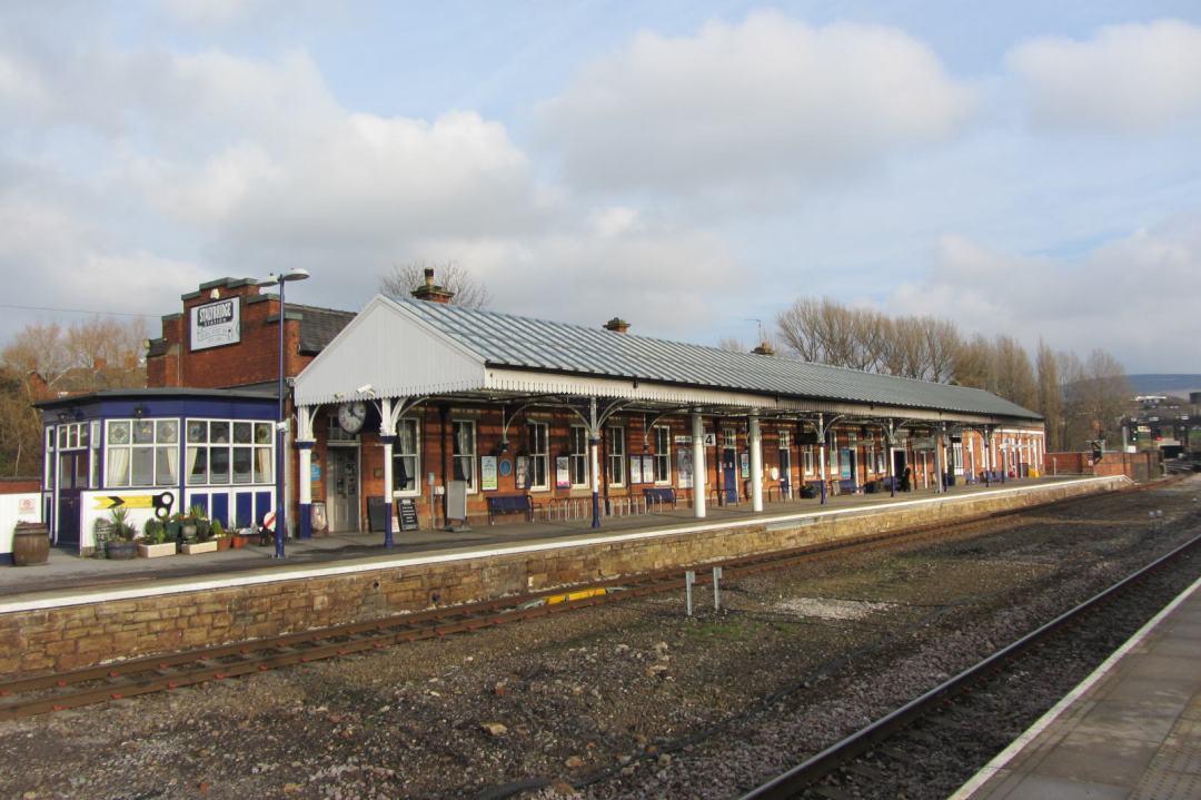 Stalybridge Station, Yorkshire platform and Buffet Bar