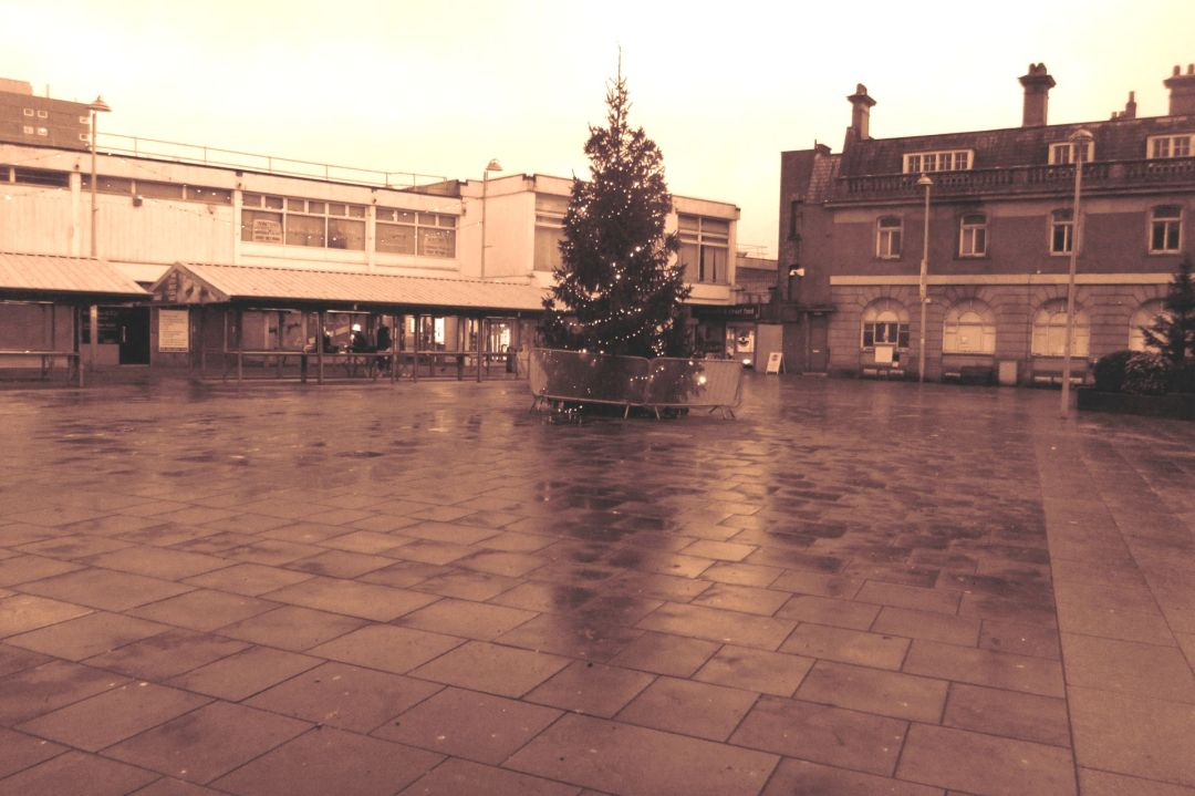 Hyde Market Place Sepia