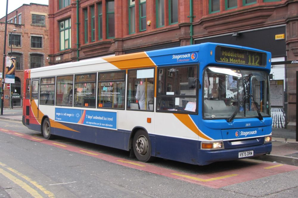 Dennis Dart SLF, Stagecoach Manchester, V975 DRM